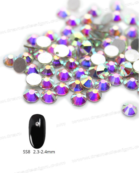 CRYSTAL RHINESTONE Crystal AB SS8 144 Count/Pack