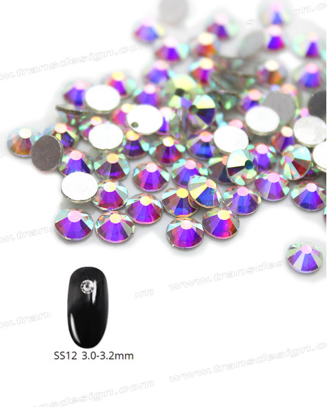 CRYSTAL RHINESTONE Crystal AB SS12 72 Count/Pack
