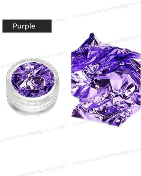 TDI Aluminum Irregular Nail Flakes Sequins Foil Purple.