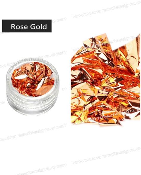 TDI Aluminum Irregular Nail Flakes Sequins Foil Rose Gold