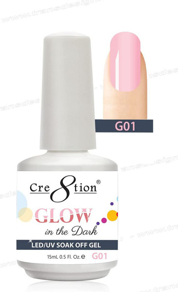 CRE8TION - Glow In The Dark Soak Off Gel .5 oz - G01