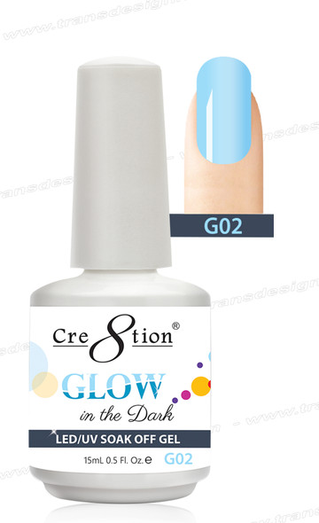 CRE8TION - Glow In The Dark Soak Off Gel .5 oz - G02