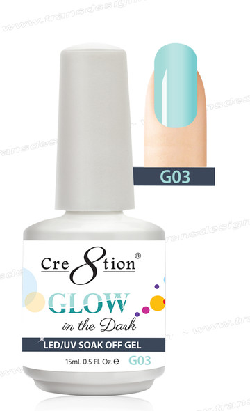 CRE8TION - Glow In The Dark Soak Off Gel .5 oz - G03