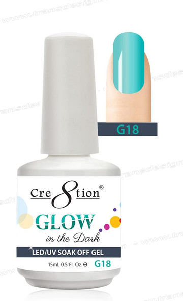 CRE8TION - Glow In The Dark Soak Off Gel .5 oz - G18