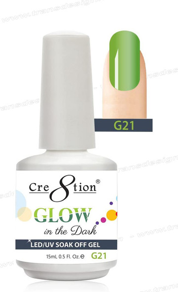 CRE8TION - Glow In The Dark Soak Off Gel .5 oz - G21