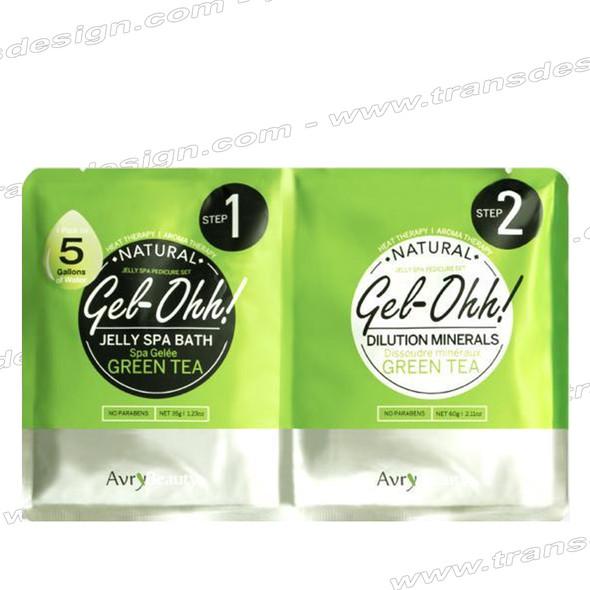 AVRY BEAUTY GEL-OHH! Natural Jelly Spa Pedicure 30 Set GREEN TEA