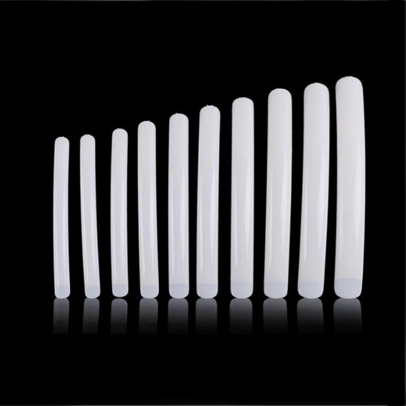 NAIL TIP XXL Long & Curved Natural Color 1 Each Size 10/Bag