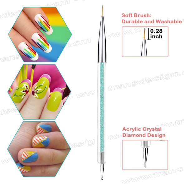 "FLEXBRUSH Nail Art | Gel & Dotting Tool 7mm | .28"" Liner"