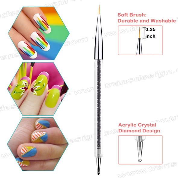 "FLEXBRUSH Nail Art | Gel & Dotting Tool 9mm | .35"" Liner"