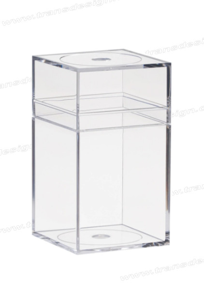 "AMAC Plastic Box Clear Crystal - 4"" x 4"" x 7.25"""