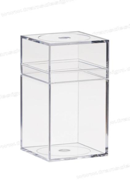 """AMAC Plastic Box Clear Crystal - 4"""" x 4"""" x 7.25"""""""