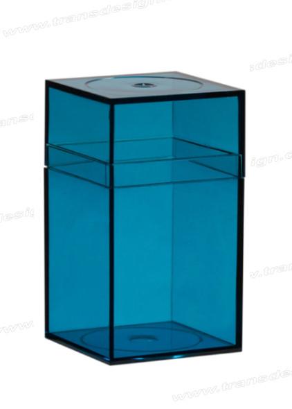 "AMAC Plastic Box Clear Marine - 4"" x 4"" x 7.25"""