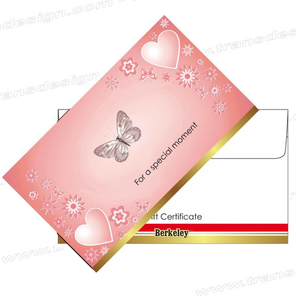 Matching Envelope for Gift Certificate | Design 08. 50 envelopes/bags