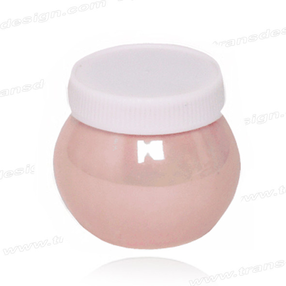 Porcelain Jar With Lid - PINK