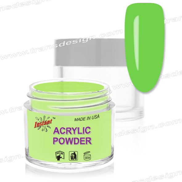 INSTANT ACRYLIC & DIP COLOR - Neon Lime Green 2oz.