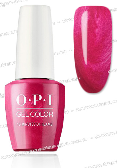 OPI GelColor - 15 Minutes Of Flame 0.5oz.