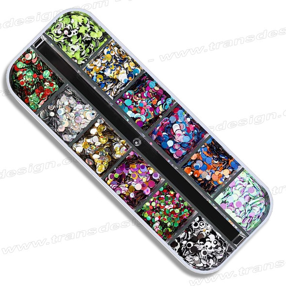 3D Mixed Color Ultrathin Sequins Nail Glitter Flakes