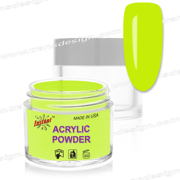 INSTANT ACRYLIC & DIP COLOR - Neon Lime 2oz.