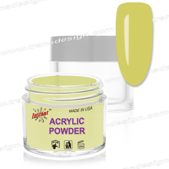 INSTANT ACRYLIC & DIP COLOR - PASTEL Canary 2oz.