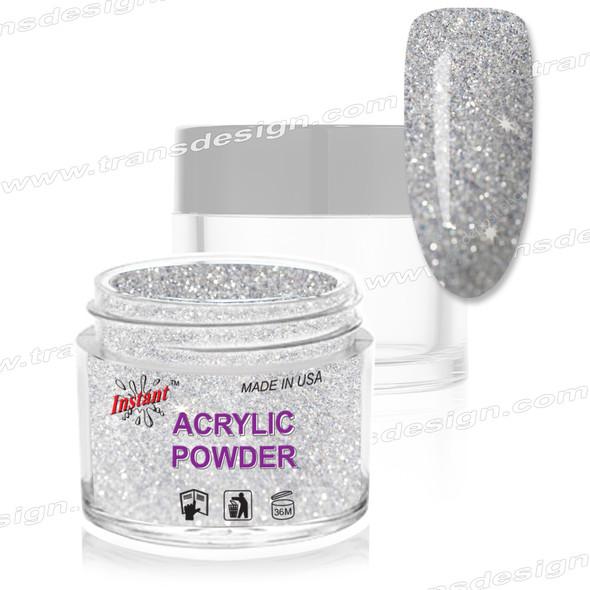 INSTANT ACRYLIC & DIP COLOR -  Silver Glitter 2oz.
