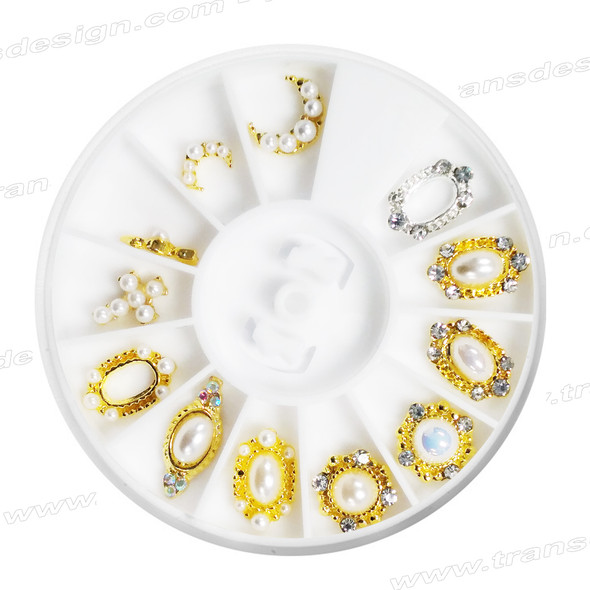 CHARM ALLOY Pearl White 12 Design #7101
