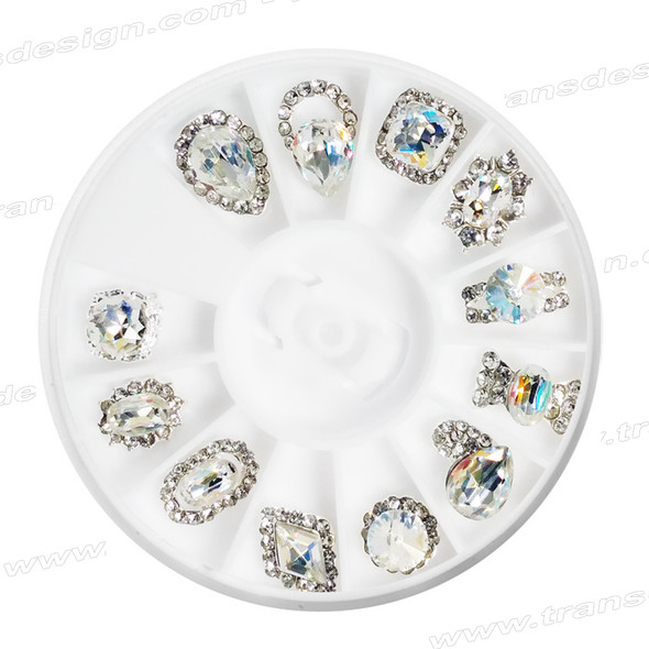 CHARM ALLOY Crystal AB Color 12 Design #7104