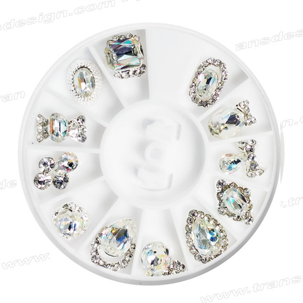 CHARM ALLOY Crystal AB Color 12 Design #7105