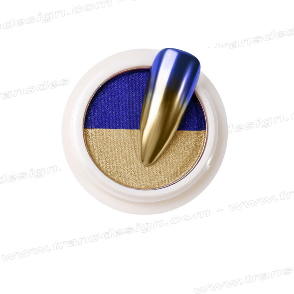 INSTANT Mirror Effect  Light Gold  & Blue #3