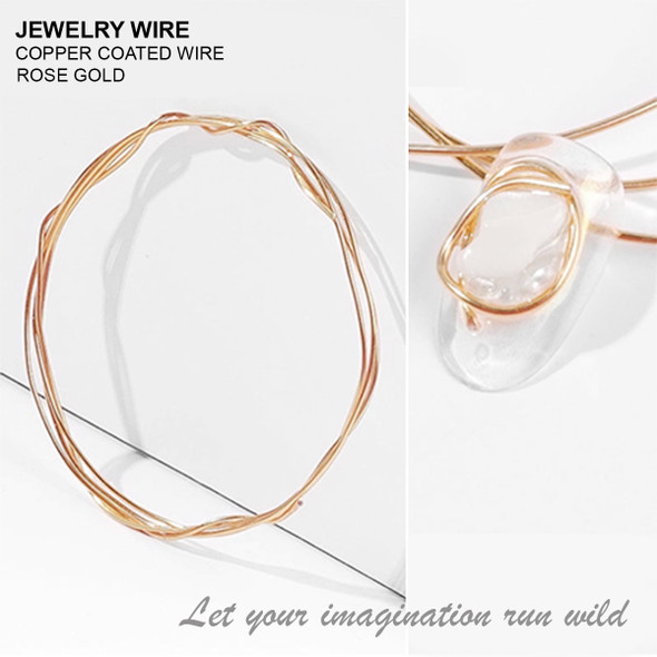 "JEWELRY WIRE Rose Gold 0.02"" Diameter x 40"" Length"