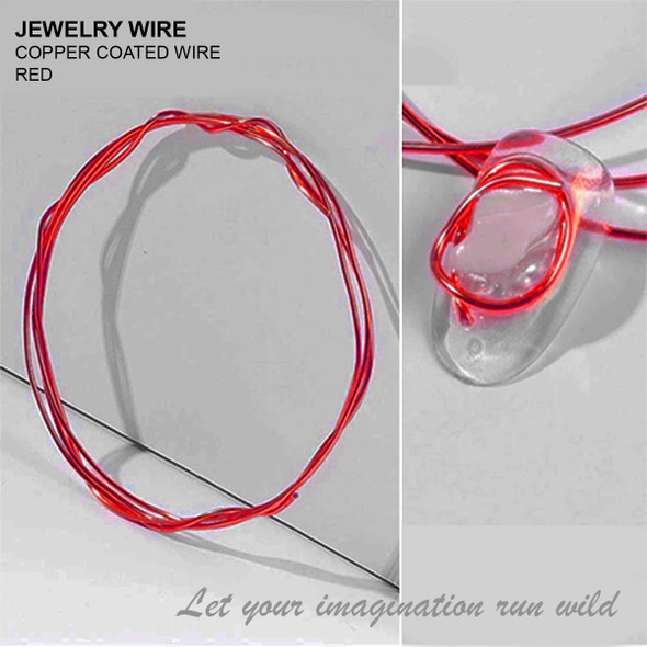 "JEWELRY WIRE Red 0.02"" Diameter x 40"" Length"