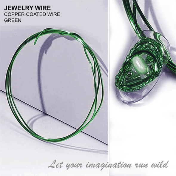 "JEWELRY WIRE Green 0.02"" Diameter x 40"" Length"