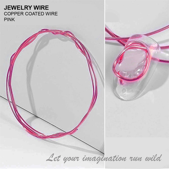 "JEWELRY WIRE Pink 0.02"" Diameter x 40"" Length"