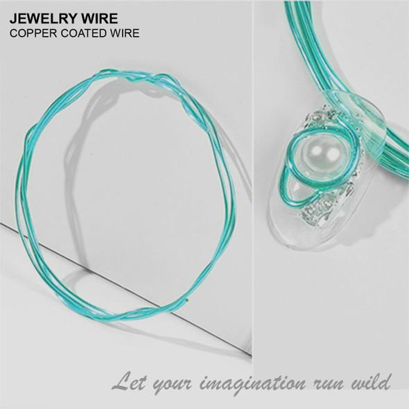 "JEWELRY WIRE Dark Teal 0.02"" Diameter x 40"" Length"
