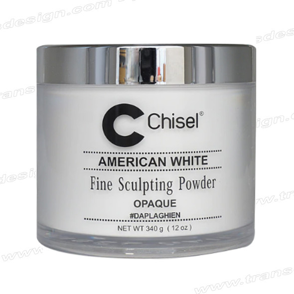 CHISEL ACRYLIC POWDER American White (Opaque) 12oz.