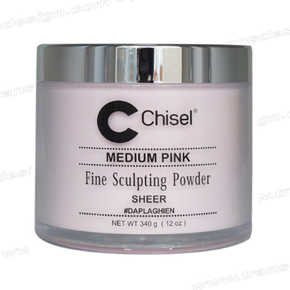 CHISEL ACRYLIC POWDER Medium Pink (Sheer) 12oz.