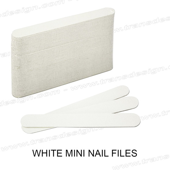USN White Mini Files 80/100 Grit 50/Pack