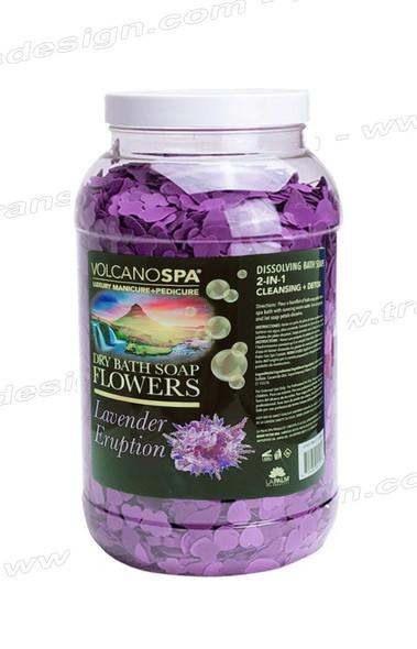 LA PALM Dry Bath Soap Flowers Lavender Eruption