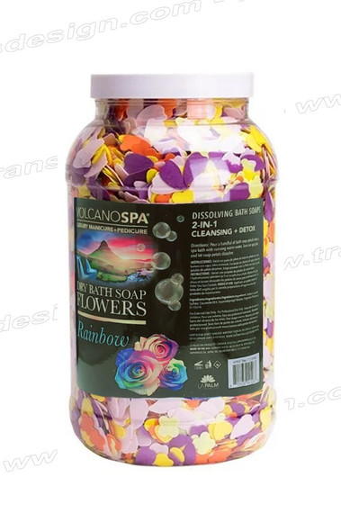 LA PALM Dry Bath Soap Flowers Rainbow