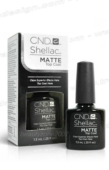 CND SHELLAC Matte Top Coat 0.25oz.