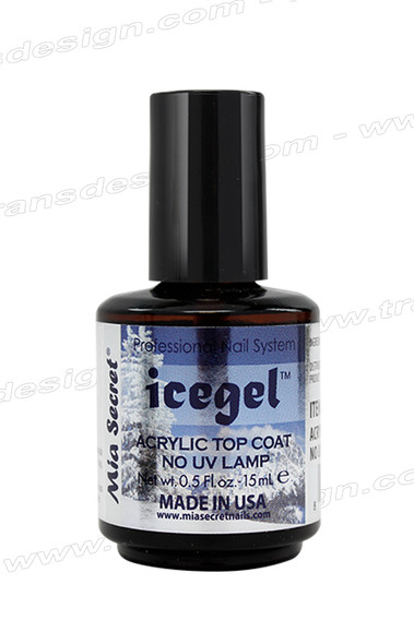 MIA SECRET Ice Gel Acrylic Top Coat 0.5oz.