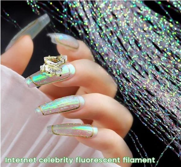 Fluorescent Filament Nail Art Color