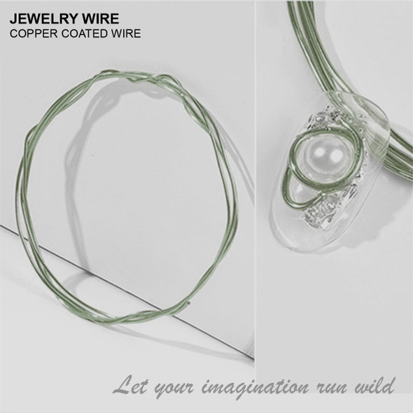 "JEWELRY WIRE Olive 0.02"" Diameter x 40"" Length"