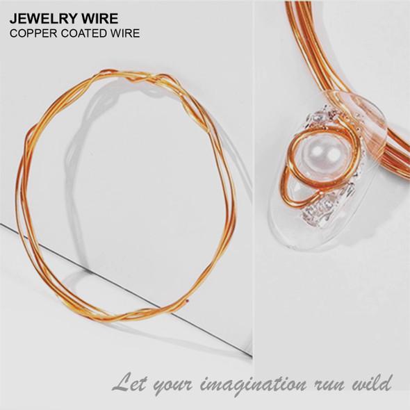 "JEWELRY ALUMINUM WIRE Copper 0.03"" Diameter x 40"" Length"