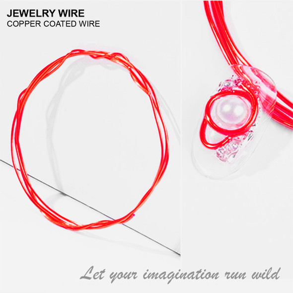 "JEWELRY ALUMINUM WIRE Red 0.03"" Diameter x 40"" Length"