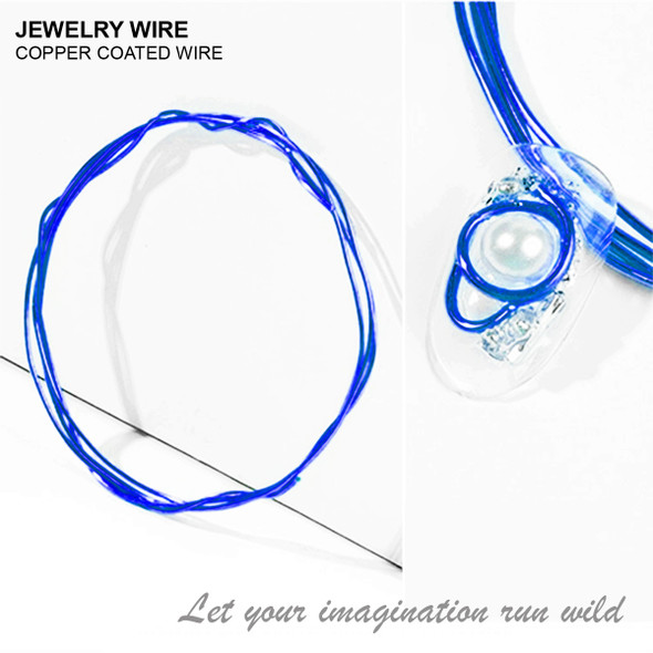 "JEWELRY ALUMINUM WIRE Blue 0.03"" Diameter x 40"" Length"