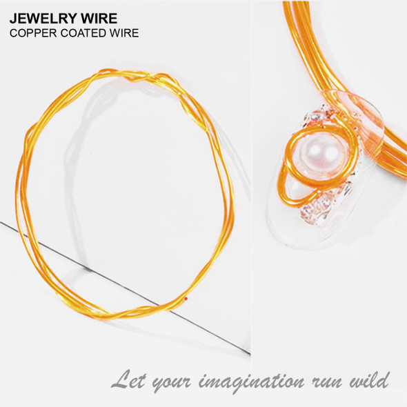 "JEWELRY ALUMINUM WIRE Bright Gold 0.03"" Diameter x 40"" Length"