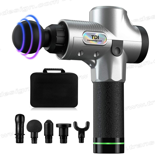 TDI Muscle Massage Gun Silver/Black with Case