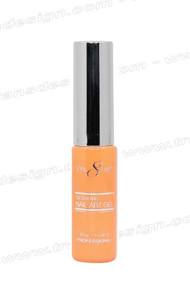 CRE8TION - Detailing Nail Art Gel #12 Hot Orange 0.33oz.