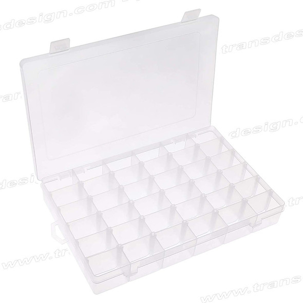 "BOX Organizer 36 Grids, Adjustable Dividers 11 x 7 x 1.75"" H."