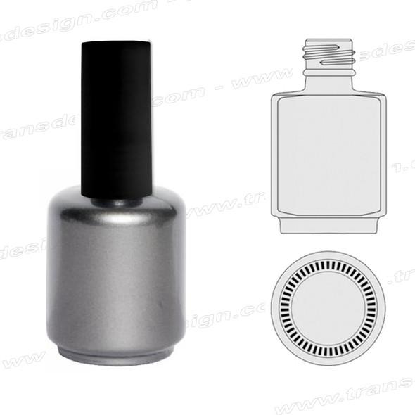 BOTTLES-Silver Painted Gel/Back Cap 0.5oz.